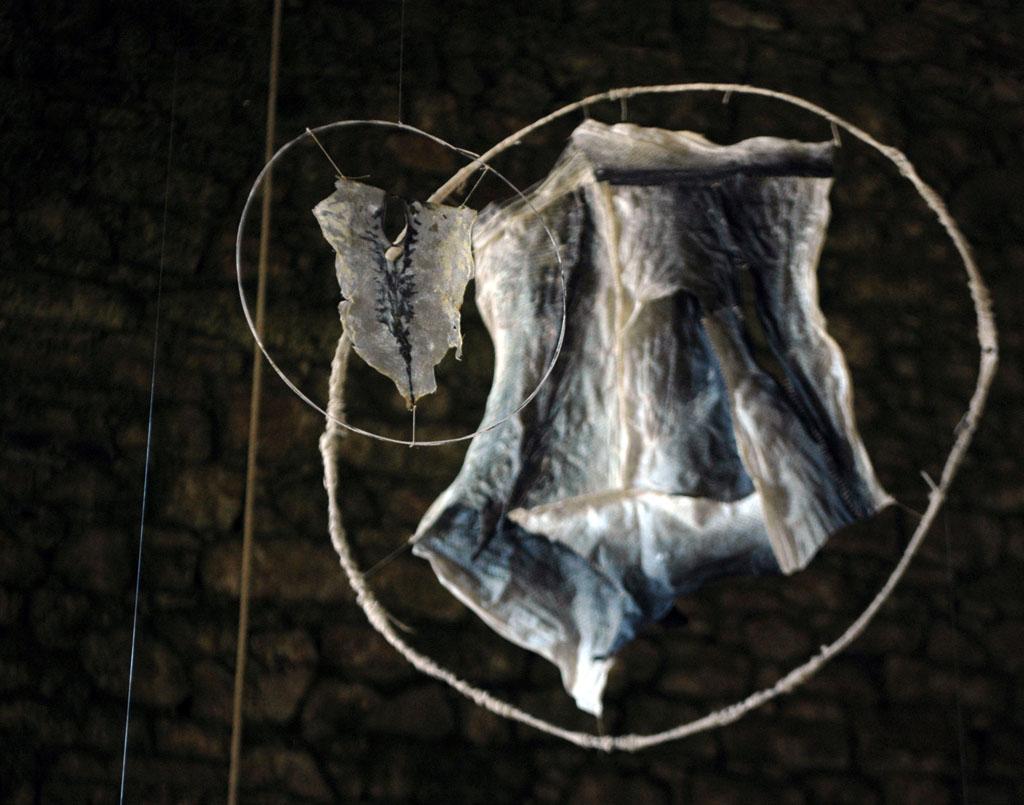 Sculptures en peaux de poissons